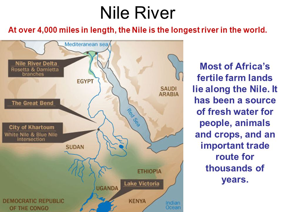 The Student Will Locate Select Features Of Africa Ppt Video - 4 longest rivers in the world