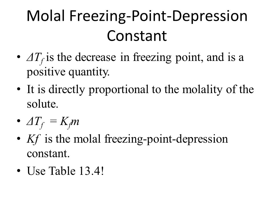 Molal Freezing-Point-Depression Constant
