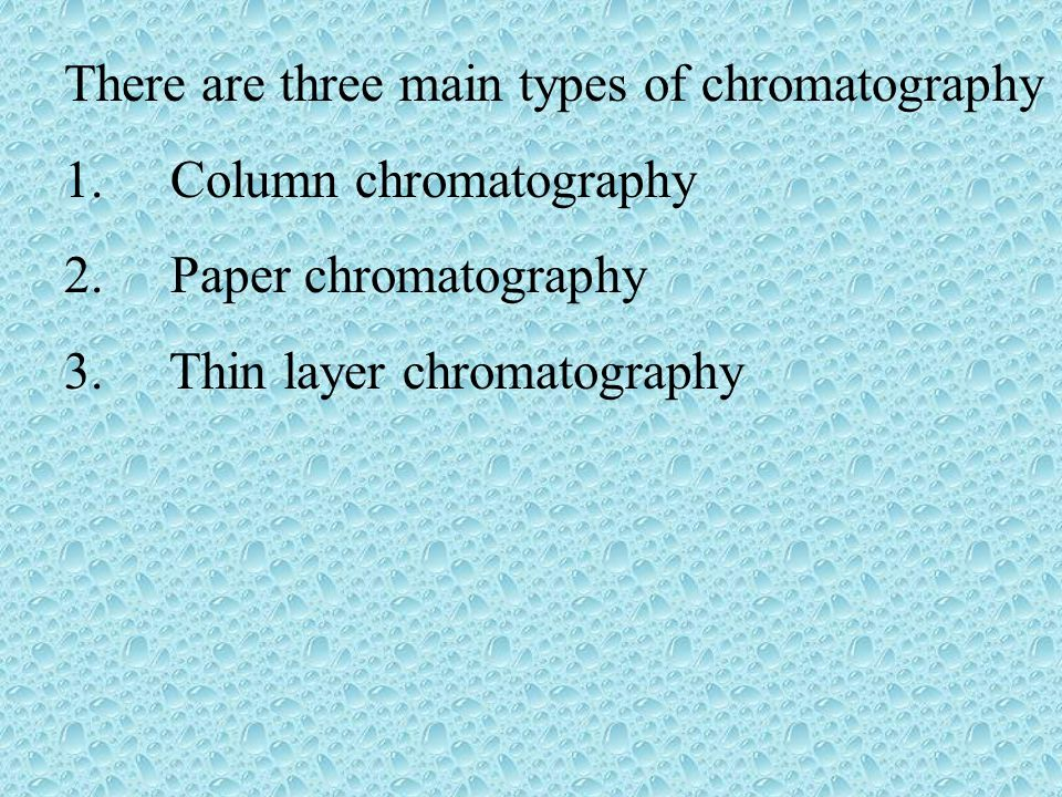 column and thin layer chromatography 2 essay Mixture in this experiment, thin-layer and column chromatography will be utilized to separate the numerous chlorophyll and carotenoid pigments.