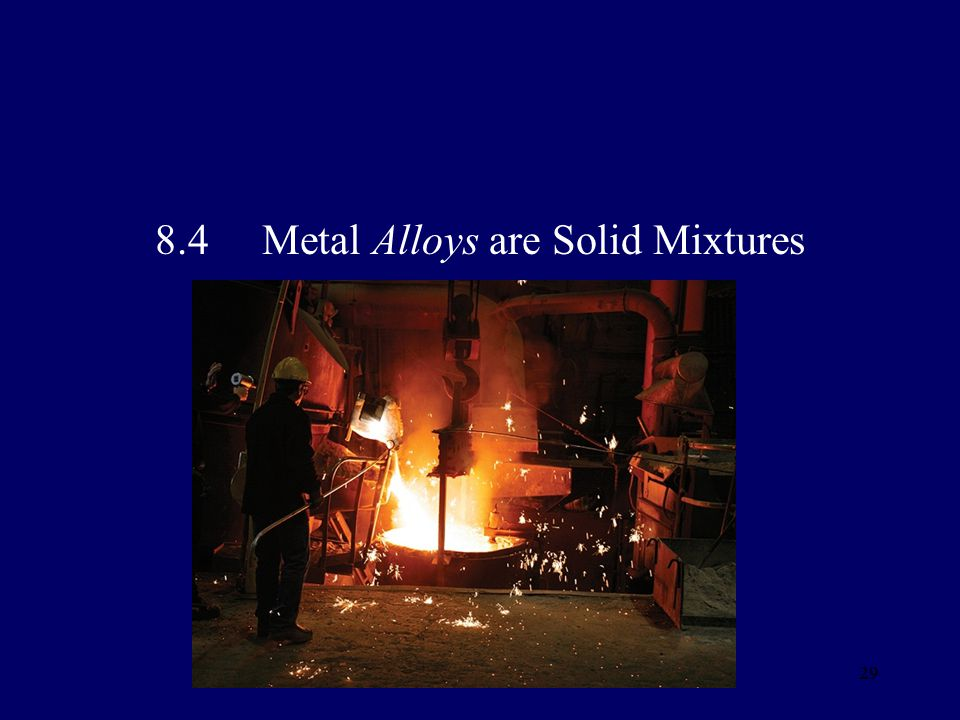 8.4 Metal Alloys are Solid Mixtures