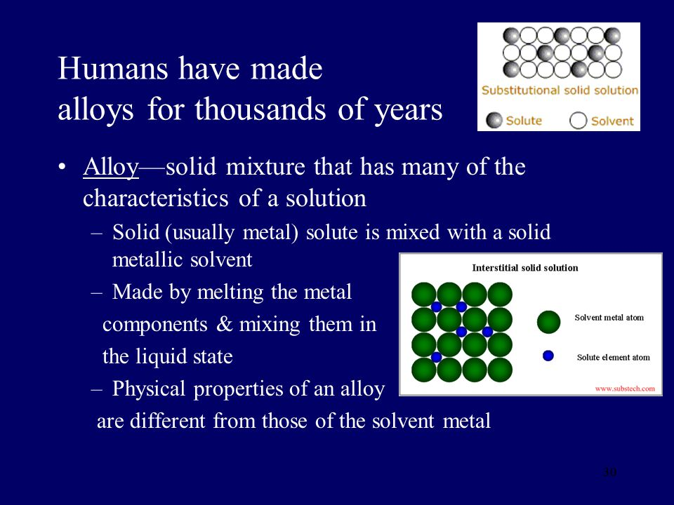 Humans have made alloys for thousands of years