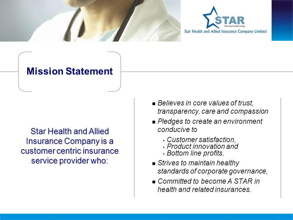 Mission Statement  Believes in core values of trust, transparency, care and compassion.  Pledges to create an environment conducive to.