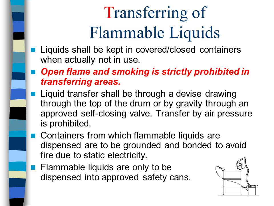 Transferring of Flammable Liquids