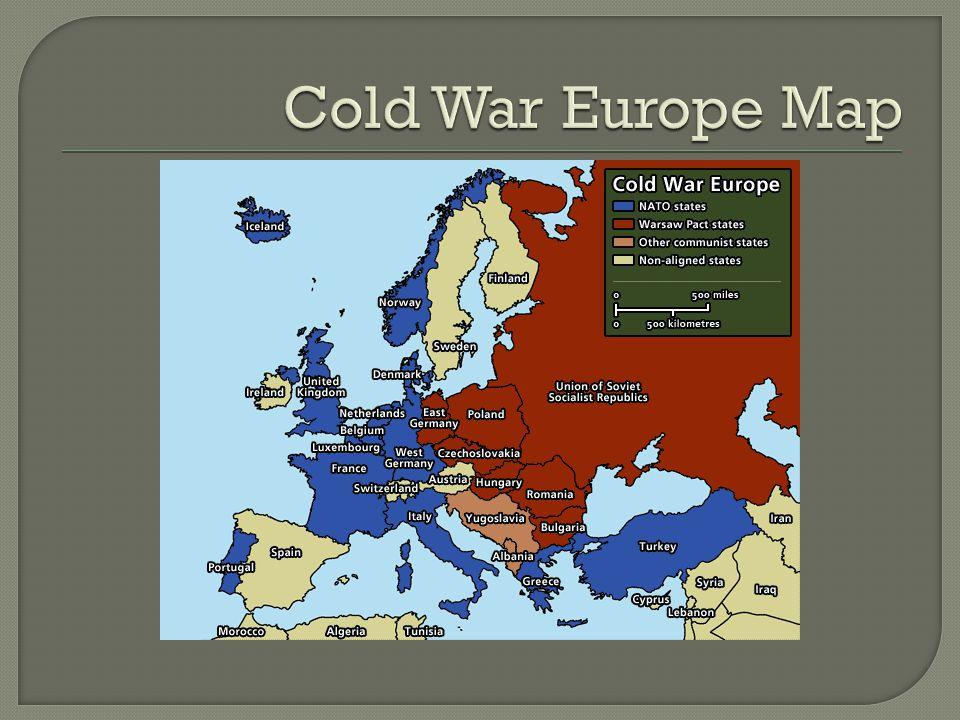 4 Cold War Europe Map
