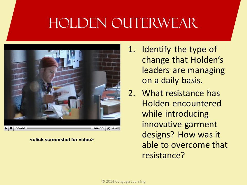 identify the type of change that holden leaders are managing on a daily basis Isolating the most common workplace issues depends at least to a certain extent on the type of business and  been there for years on the basis of how.