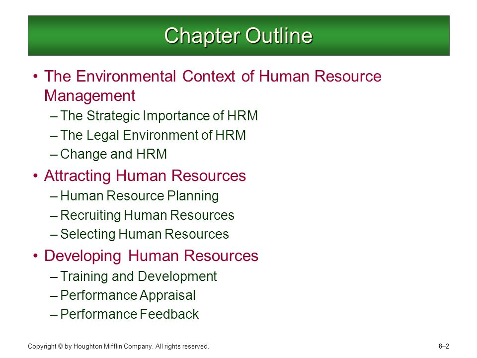 changing environment of hrm