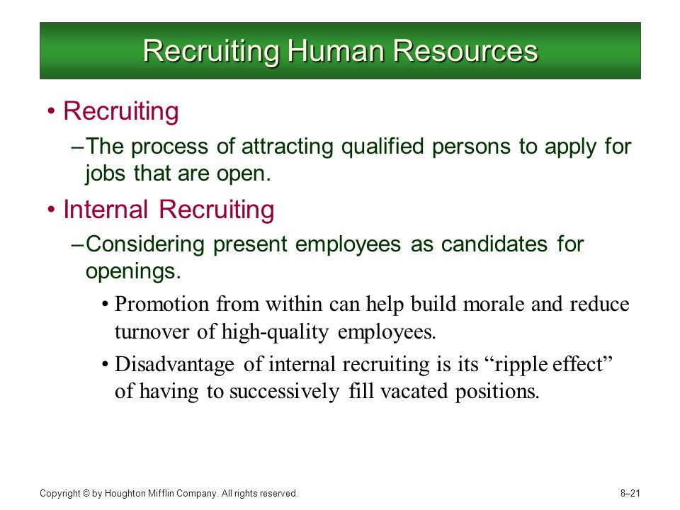 recruiting and human resources Human resources and recruiting are exciting fields with many opportunities for those who love helping people get matched up with good jobs and provide continued.