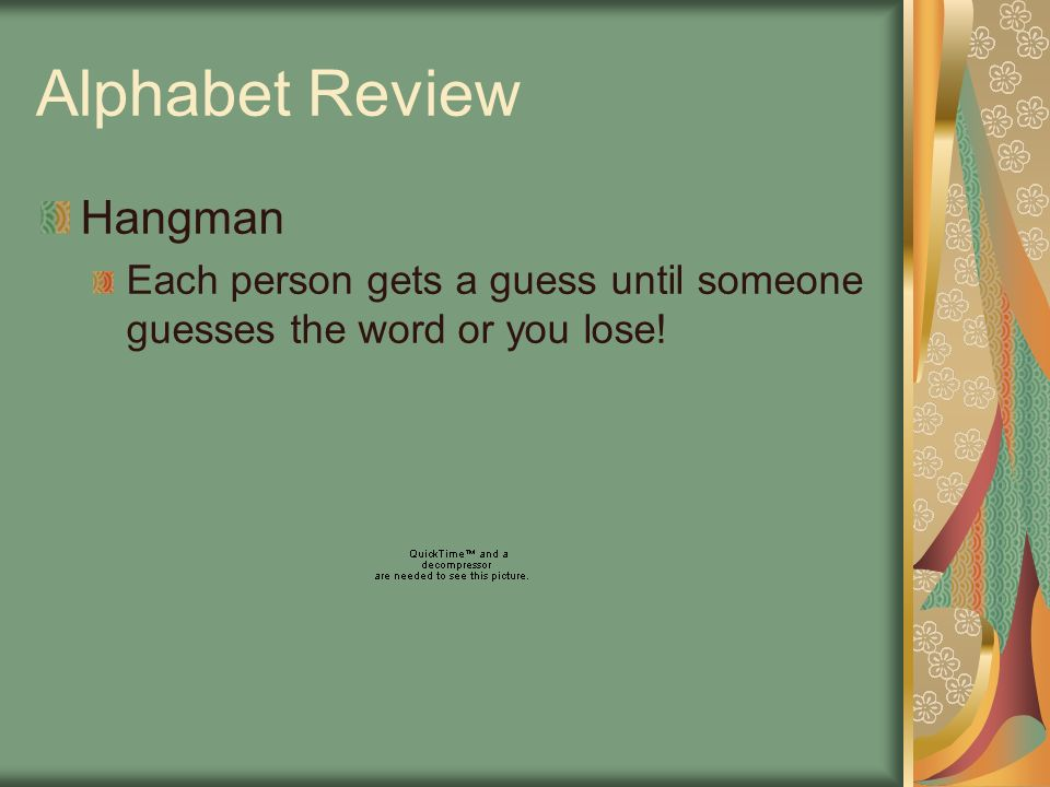 Alphabet Review Hangman