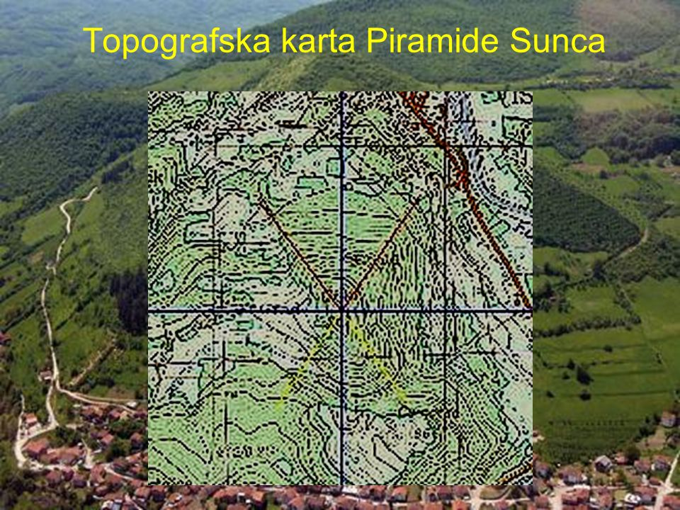 Topografska karta Piramide Sunca