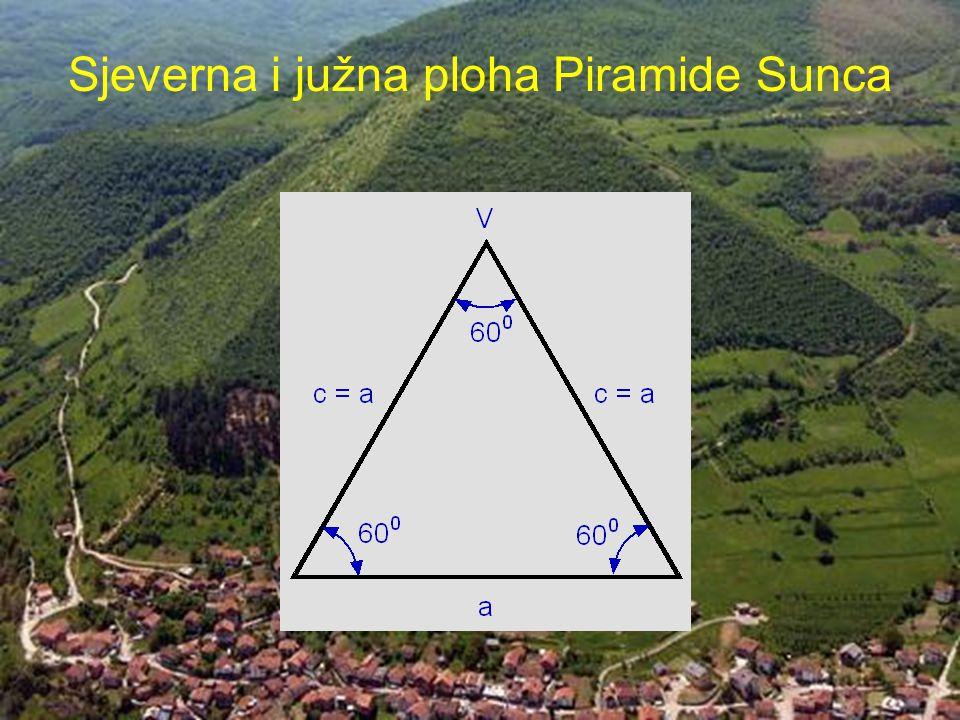 Sjeverna i južna ploha Piramide Sunca