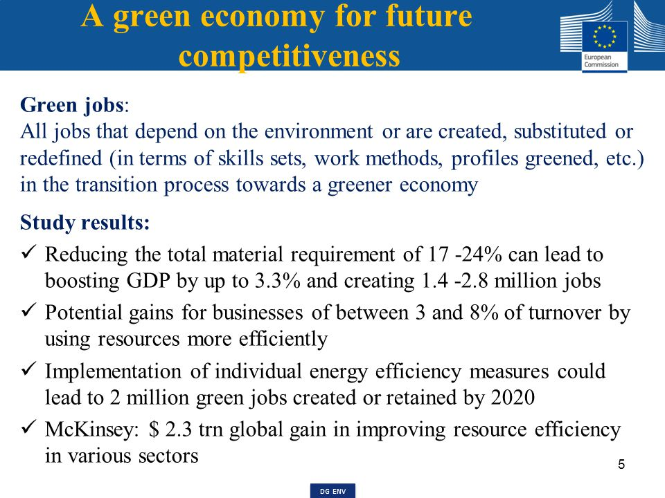 Europe 2020 Strategy and Resource efficiency