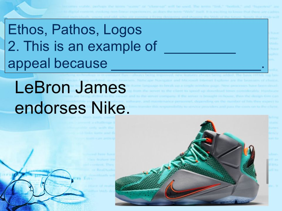 LeBron James endorses Nike.