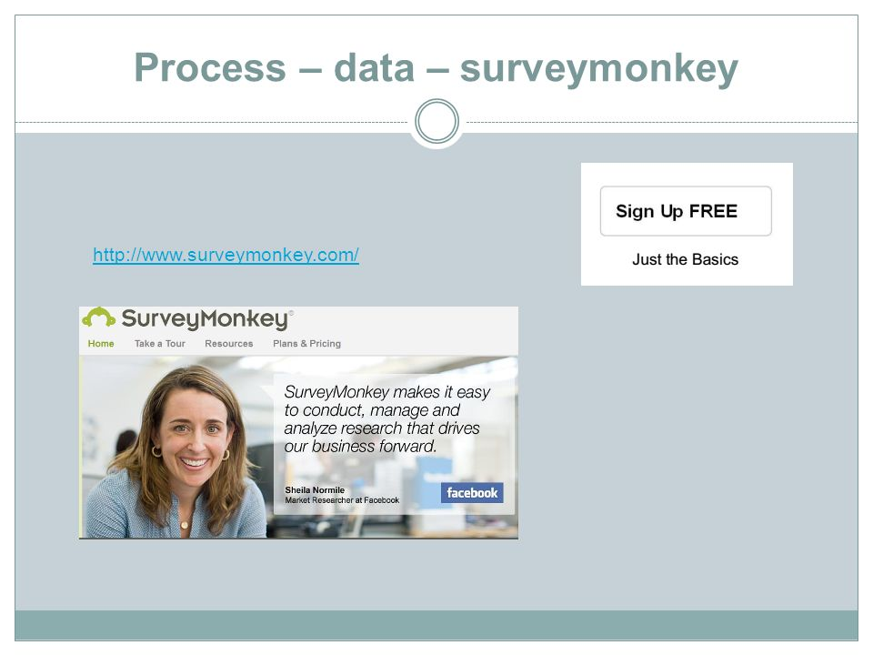 Process – data – surveymonkey