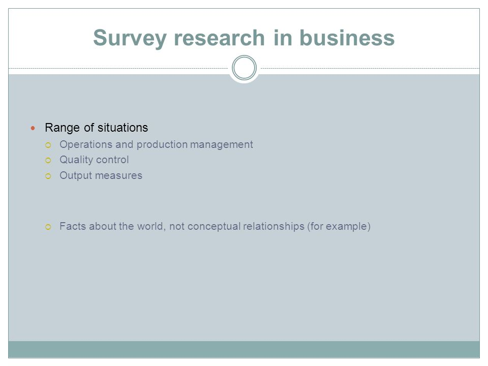 Survey research in business
