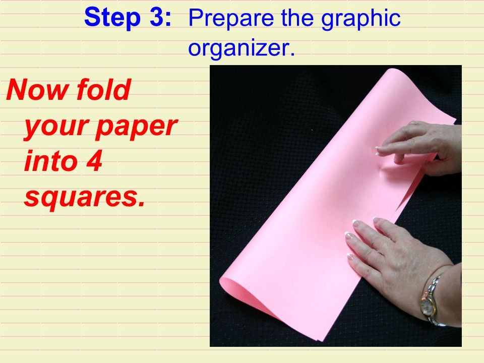 Step 3: Prepare the graphic organizer.