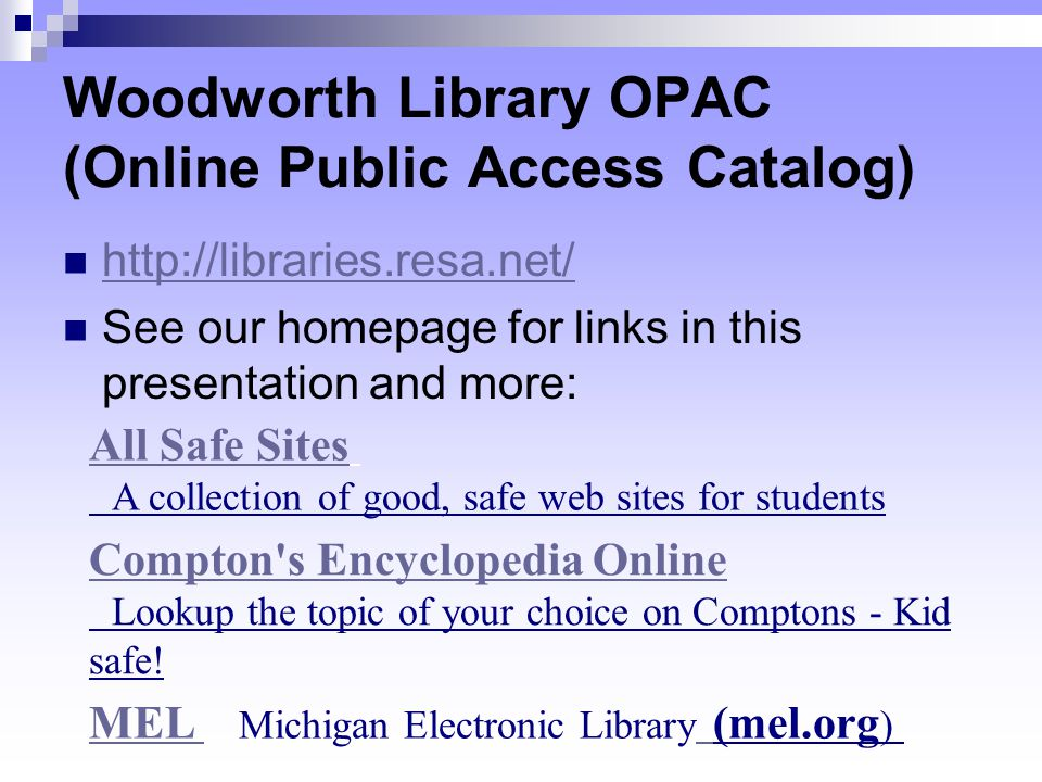 library catalog and online public access Abstract this paper aims to present the results of a study conducted to  conclude the effective use of online public access catalogue (opac) at the  library of.