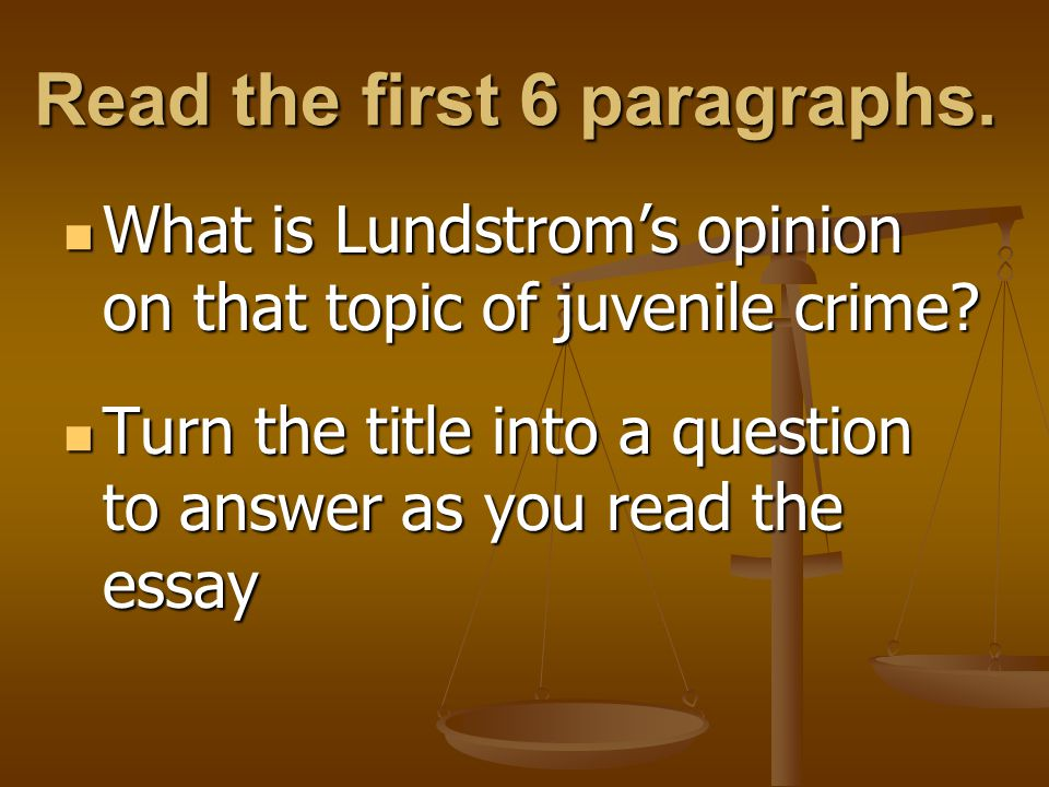 Cause of Youth Crime Essay Sample