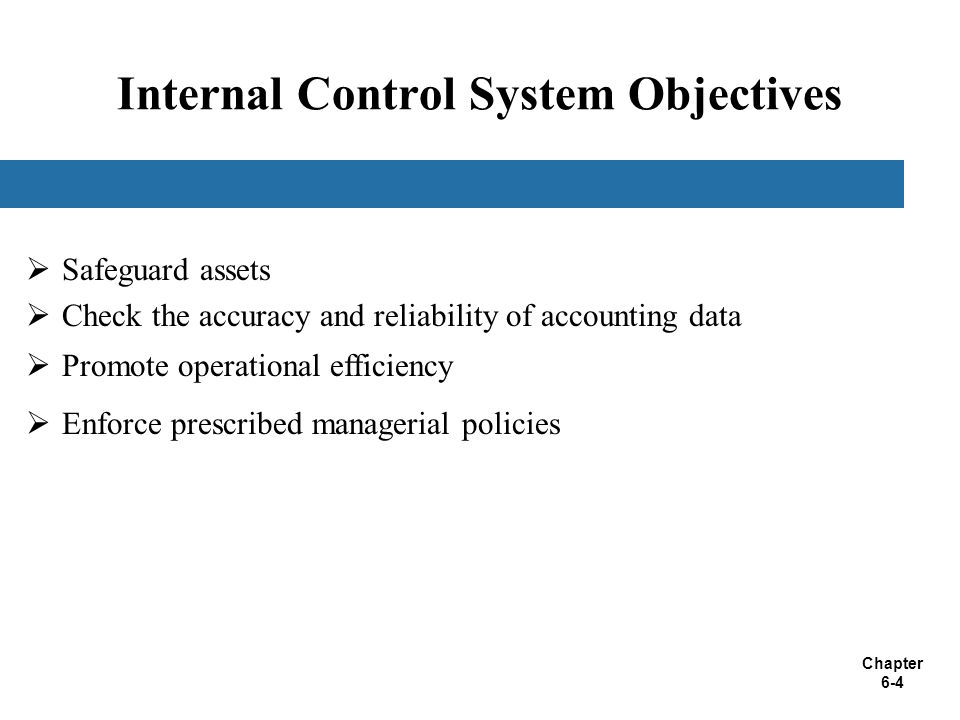 Internal Control System Objectives