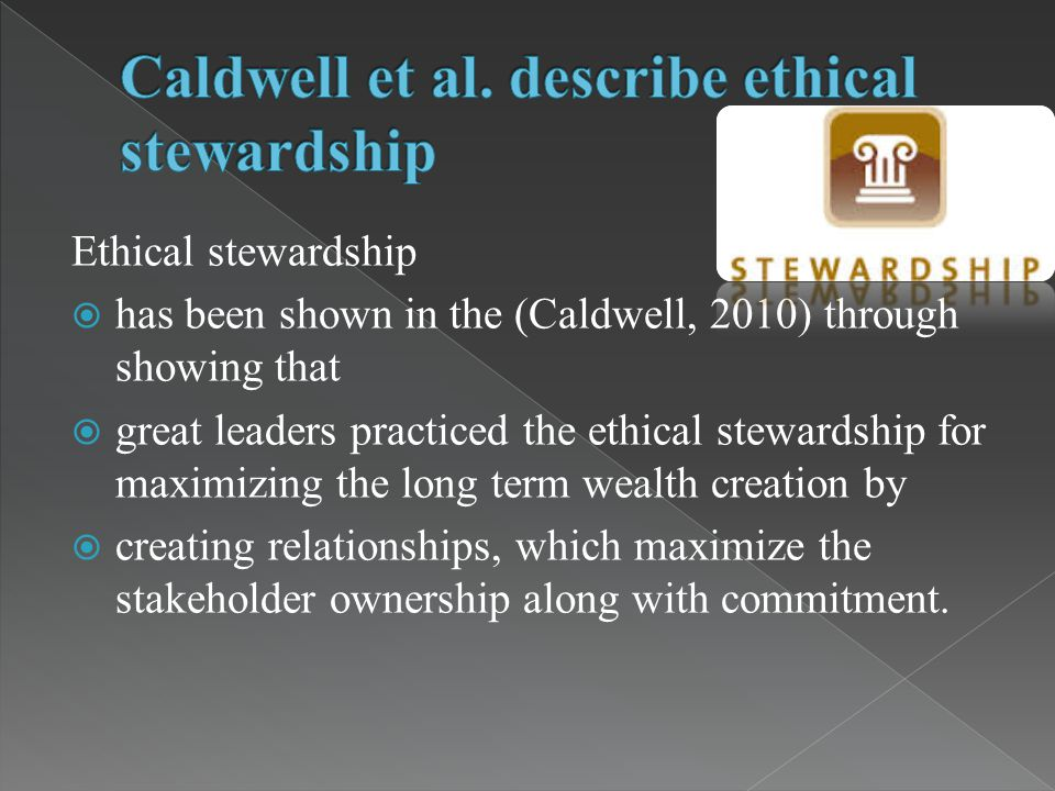 leadership trustworthiness and ethical stewardship Read leadership, trustworthiness, and ethical stewardship, journal of business ethics on deepdyve, the largest online rental service for scholarly research with thousands of academic publications available at your fingertips.