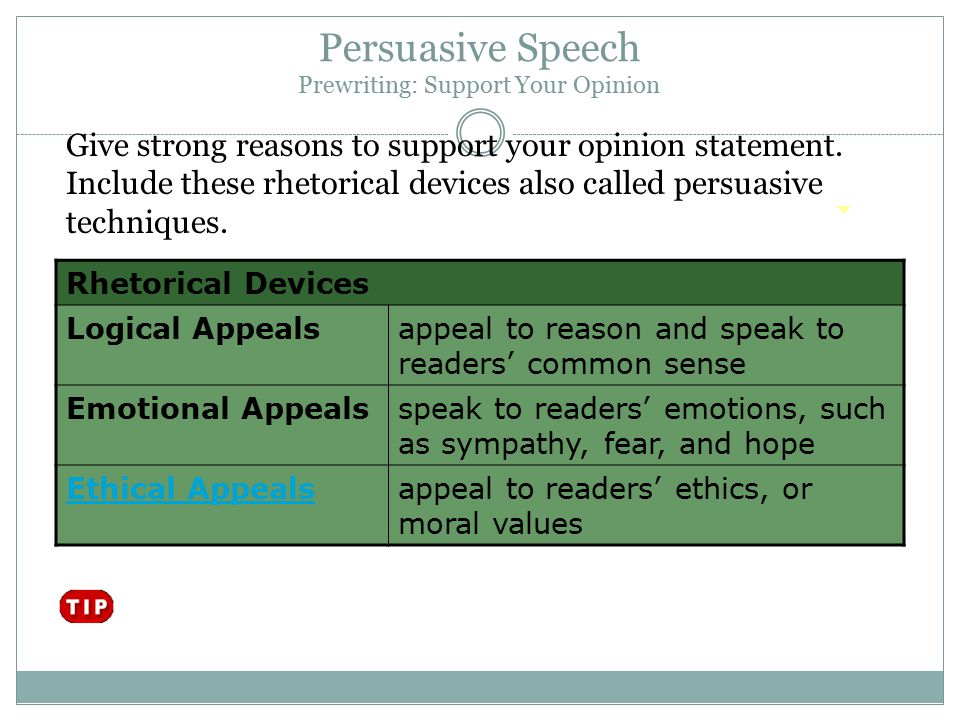 value speech