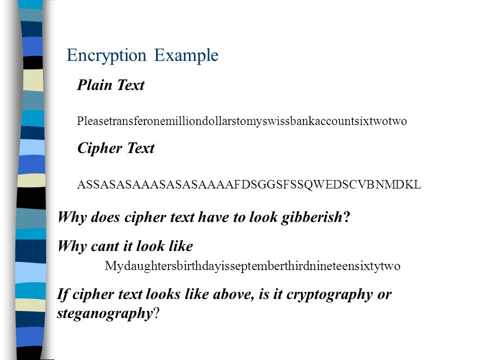 an introduction to the analysis of encryption An introduction to hill ciphers using linear algebra 42 encryption relatively easy to break using frequency analysis requencyf.