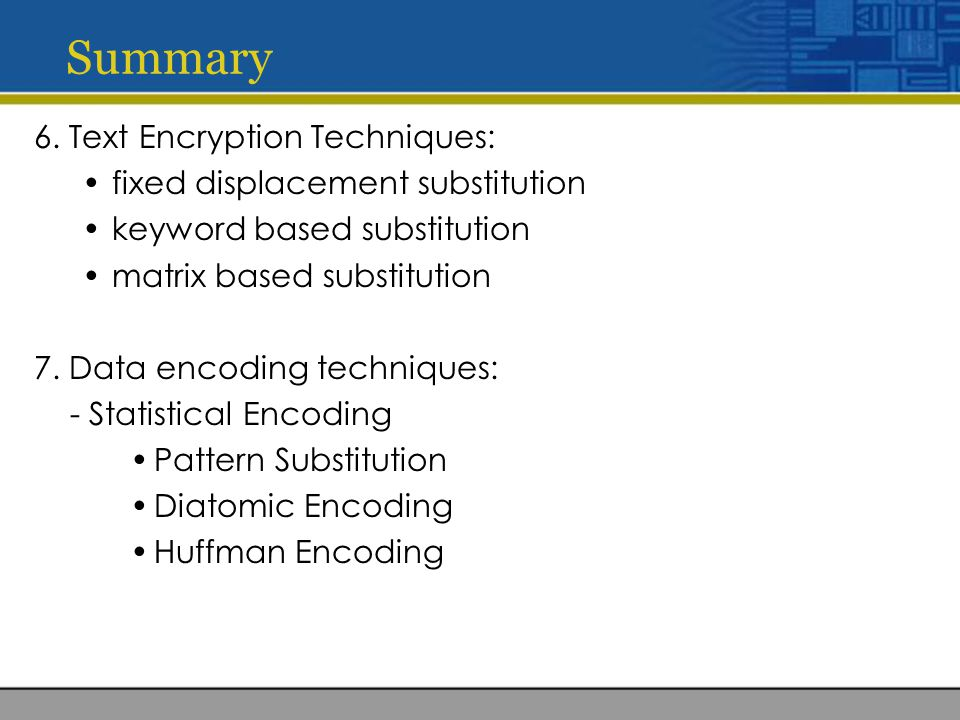 overview of cryptography and encryption techniques Asymmetric encryption (public-key cryptography)  you might like to check out  this arstechnicacom overview of asymmetric encryption/public-key cryptography   (some public-key cryptography algorithms, including the rsa algorithm that.