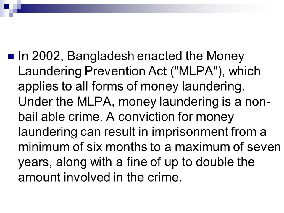 a prevention of money laundering from criminal activities Measures for the prevention of money laundering act 19/1993 of 28  for the  purposes of this act, property deriving from criminal activity.