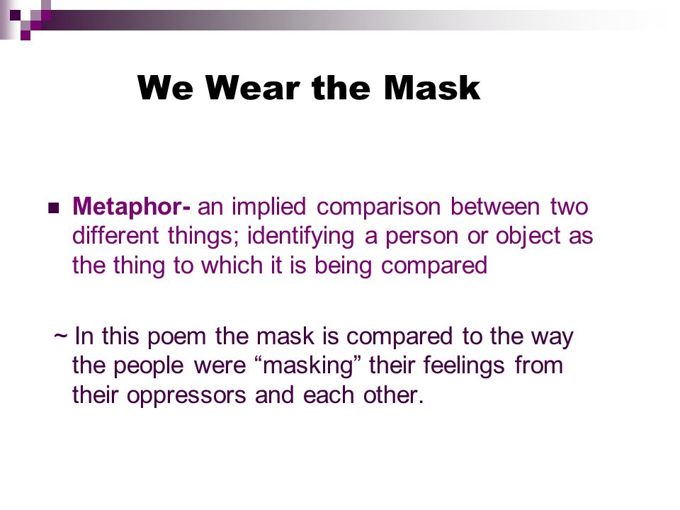 The symbol of the mask in we wear the mask a poem by paul laurence dunbar