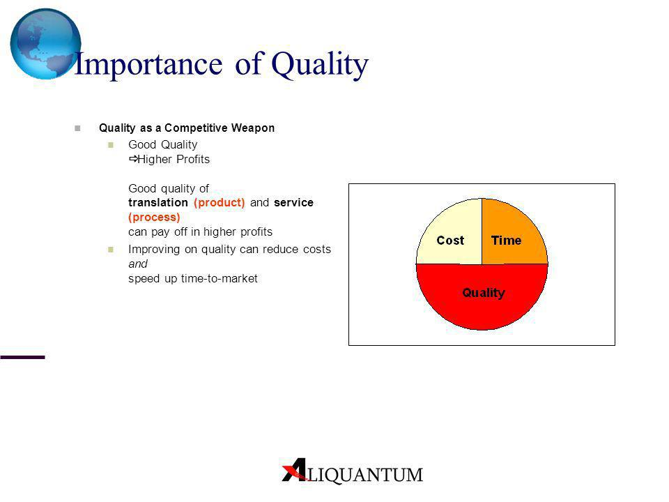 Importance of QualityQuality as a Competitive Weapon.