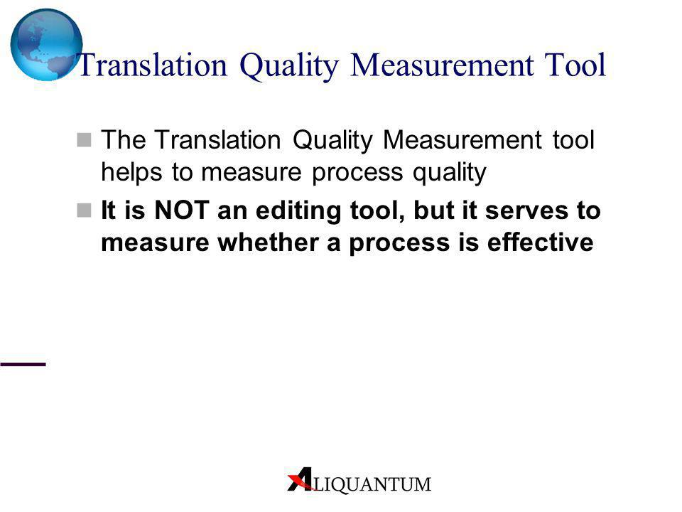 Translation Quality Measurement Tool