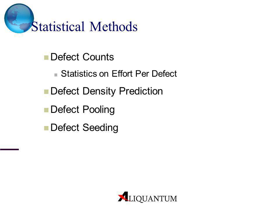Statistical Methods Defect Counts Defect Density Prediction