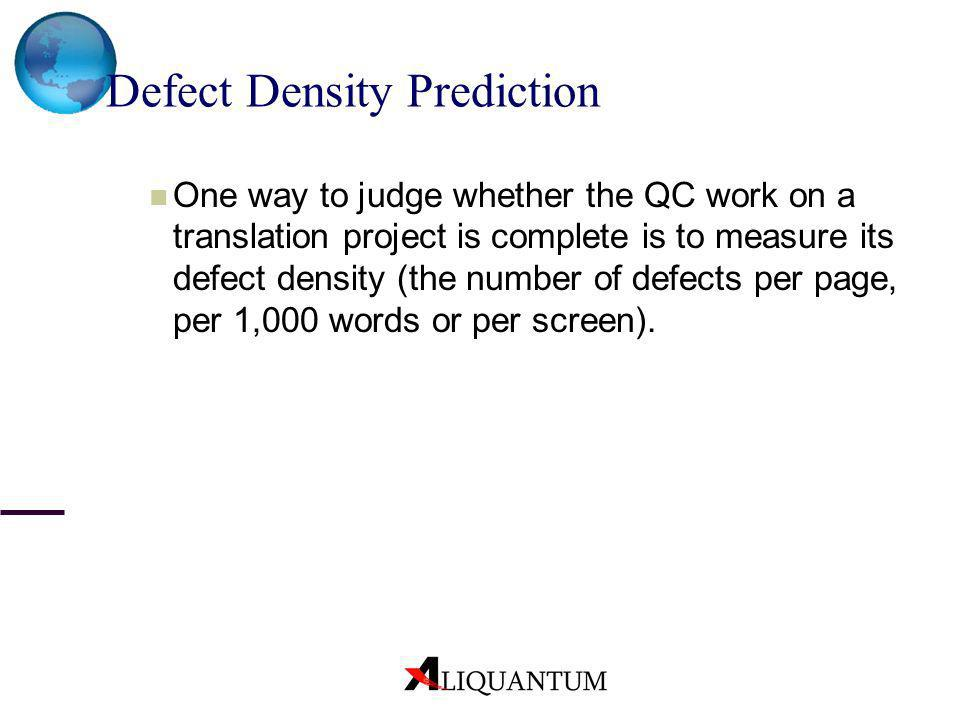 Defect Density Prediction