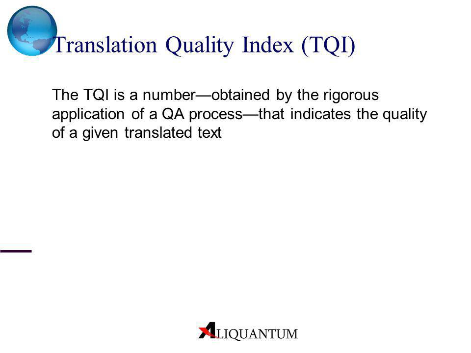 Translation Quality Index (TQI)