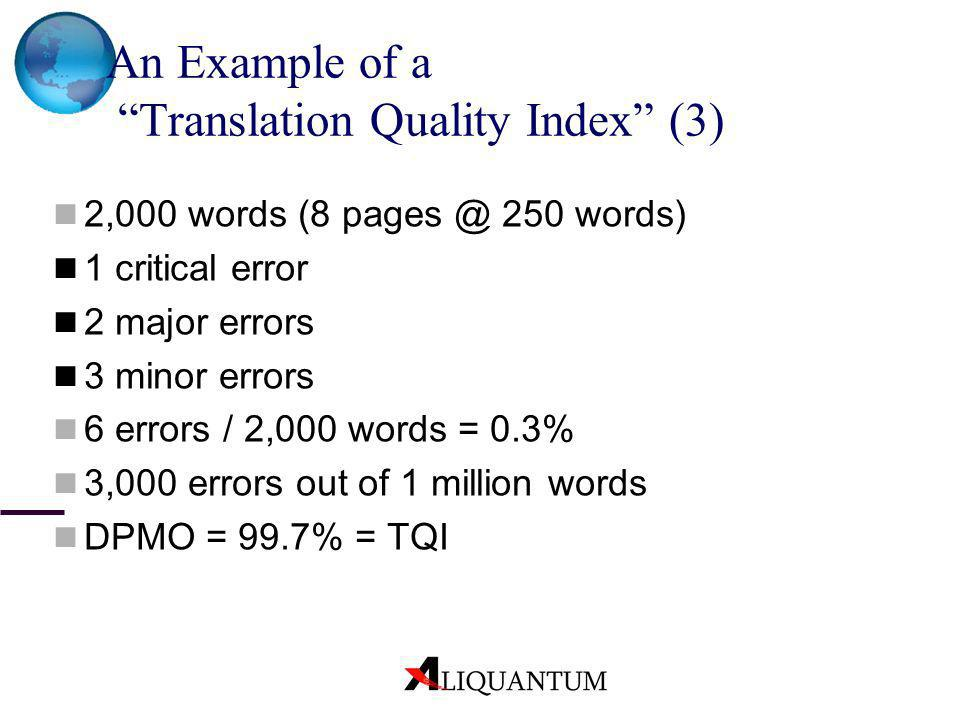 An Example of a Translation Quality Index (3)