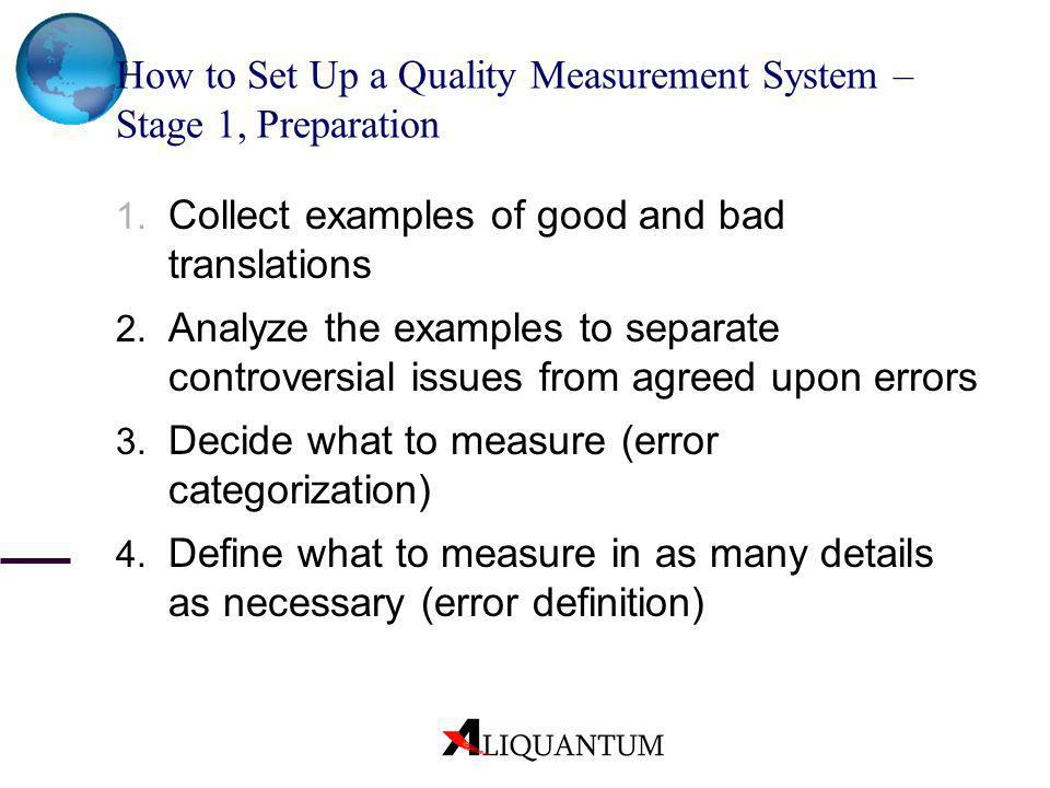 How to Set Up a Quality Measurement System – Stage 1, Preparation