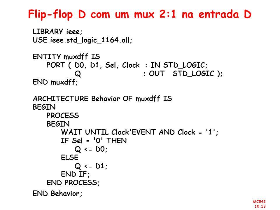 Flip-flop D com um mux 2:1 na entrada D