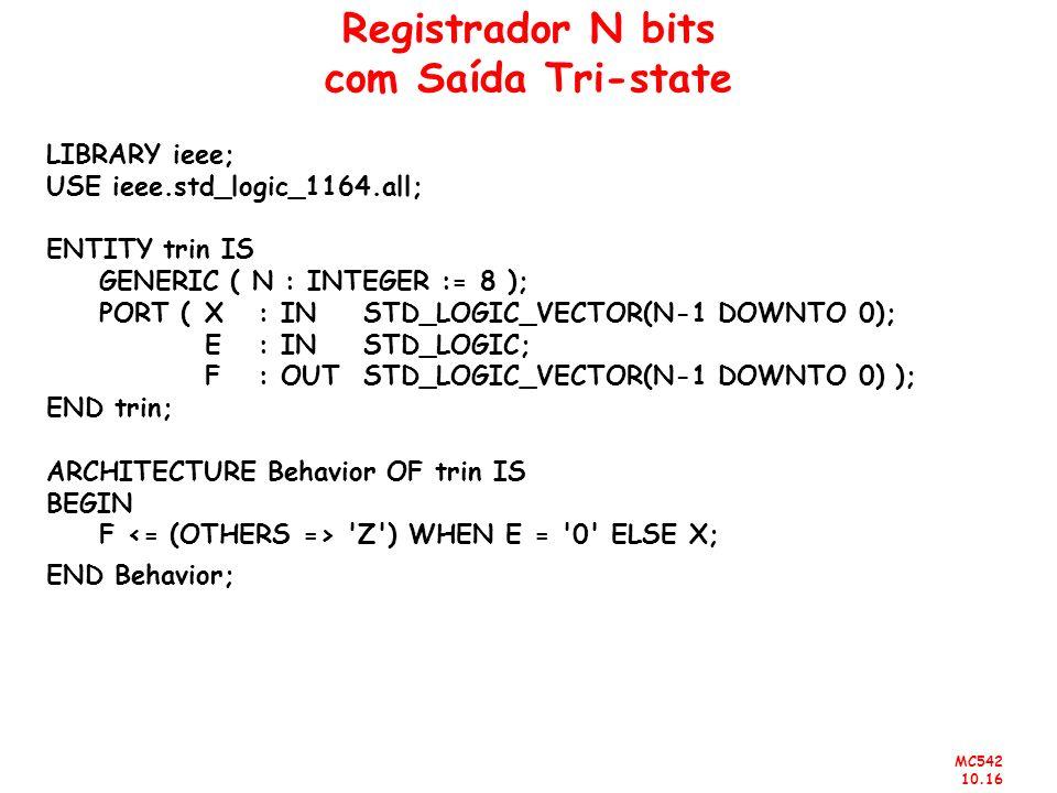 Registrador N bits com Saída Tri-state