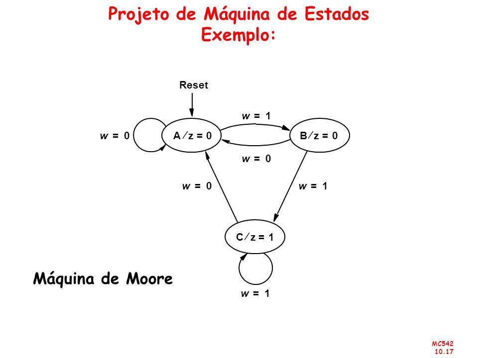 Projeto de Máquina de Estados Exemplo: