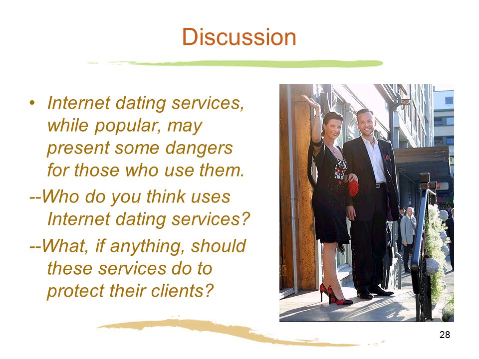 should you do online dating Getting back into the dating game can be tough, especially if you just got out of an ltr from the very beginning, you're stuck wondering if you should try to become one of the many online dating success stories, or meet someone organically like yo.