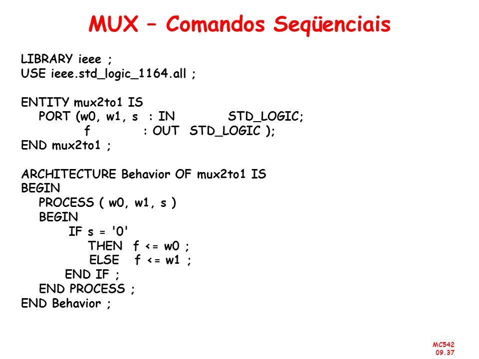 MUX – Comandos Seqüenciais