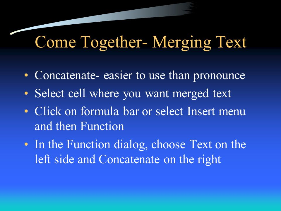 Come Together- Merging Text