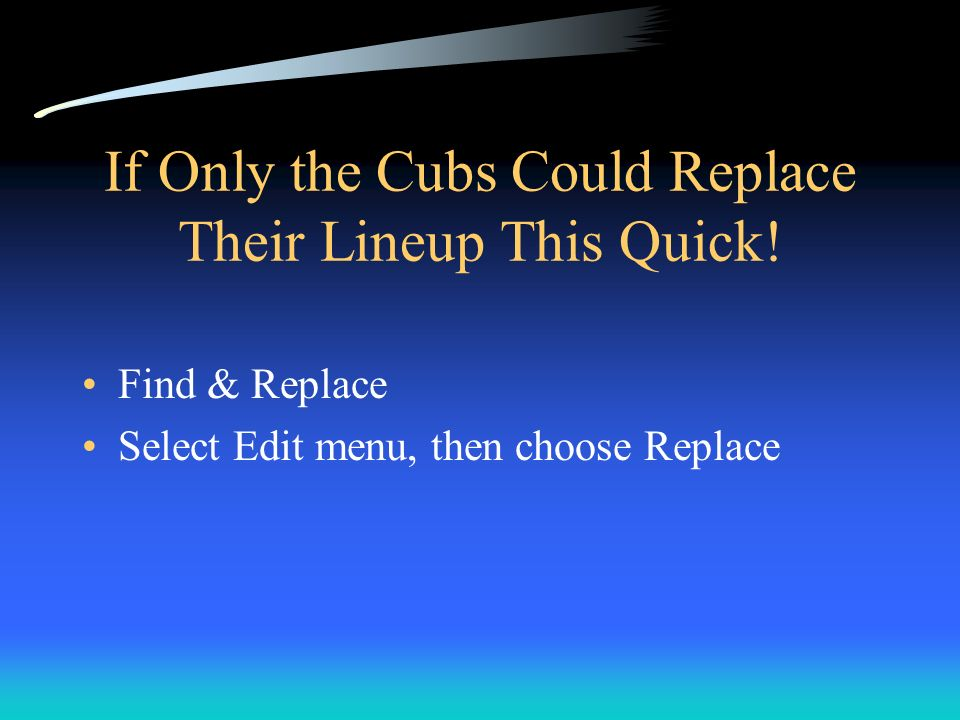 If Only the Cubs Could Replace Their Lineup This Quick!