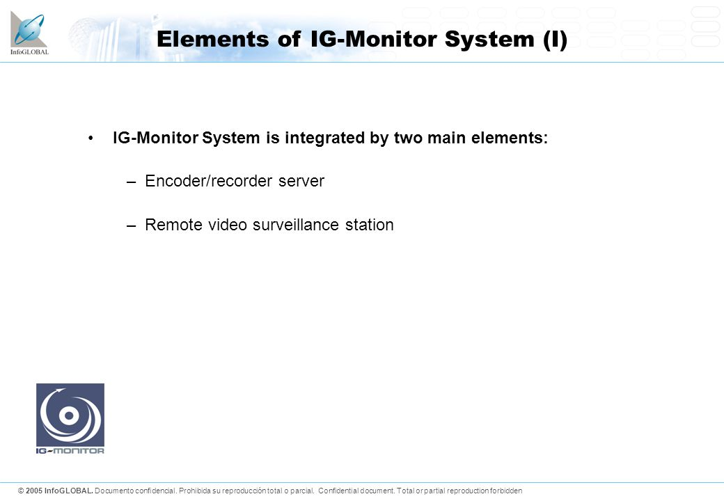 Elements of IG-Monitor System (I)