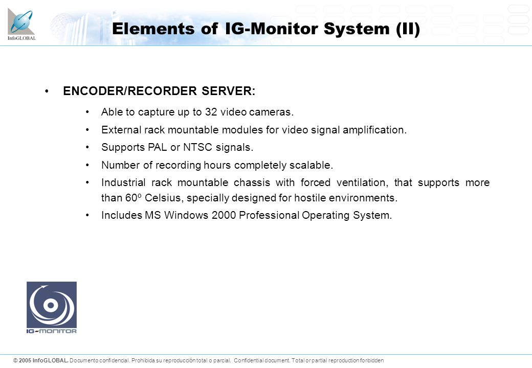 Elements of IG-Monitor System (II)