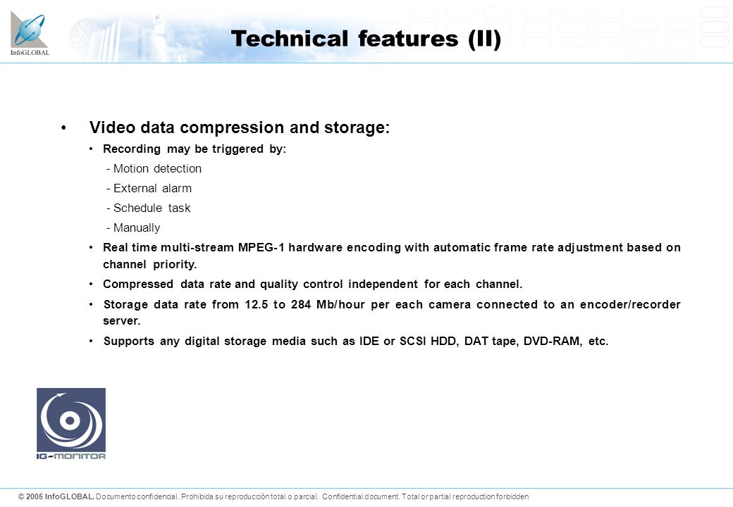Technical features (II)