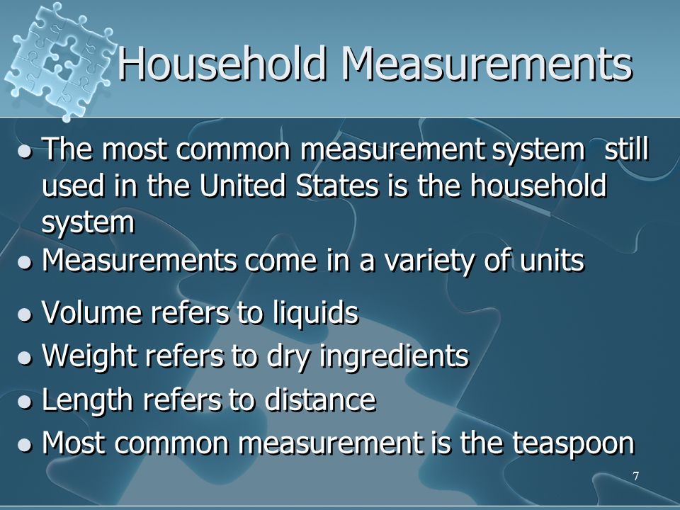 Household Measurements