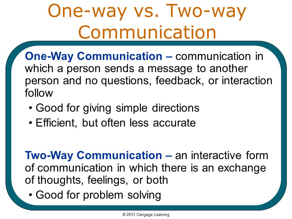 two way communication Iii-c-1: two-way communication regularly uses two-way communication with families about student performance and learning and responds promptly and.
