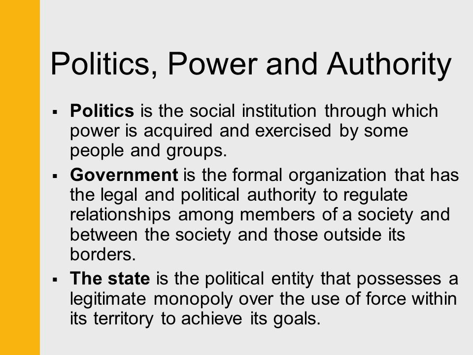 power authority and legitimacy Legitimacy is vital to the notion of authority legitimacy is the main means by which authority is distinguished from more general notions of power power can be exerted by the use of force or violence.