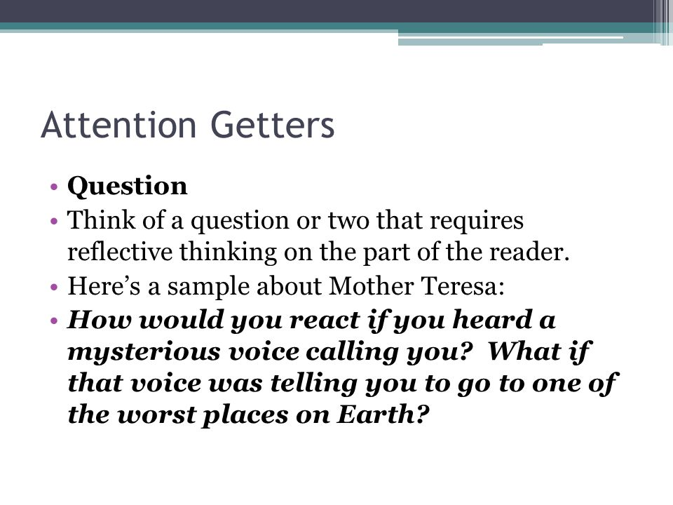 5 Types of Attention Getters in Essays