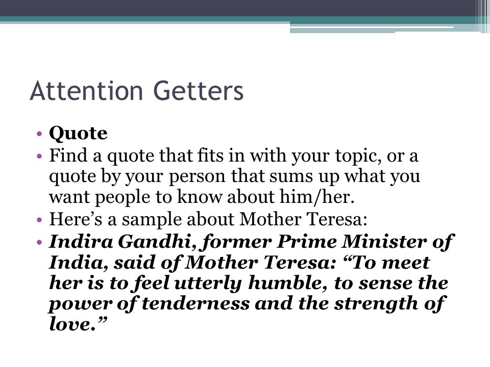 Good attention getters for essays